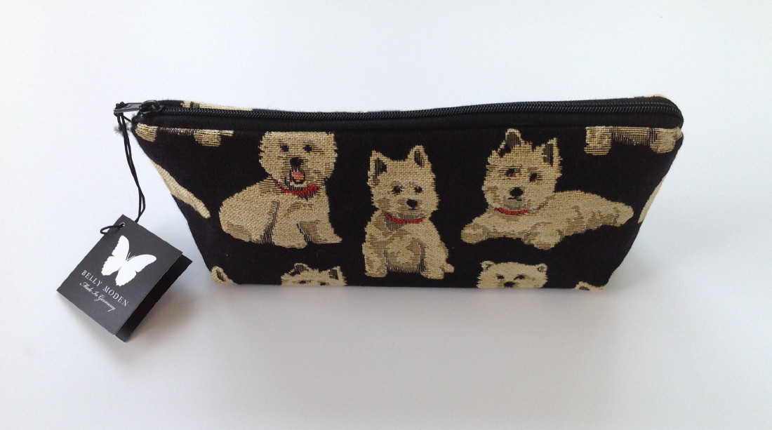 Belly Moden Westie Design Zipped Wash Bag