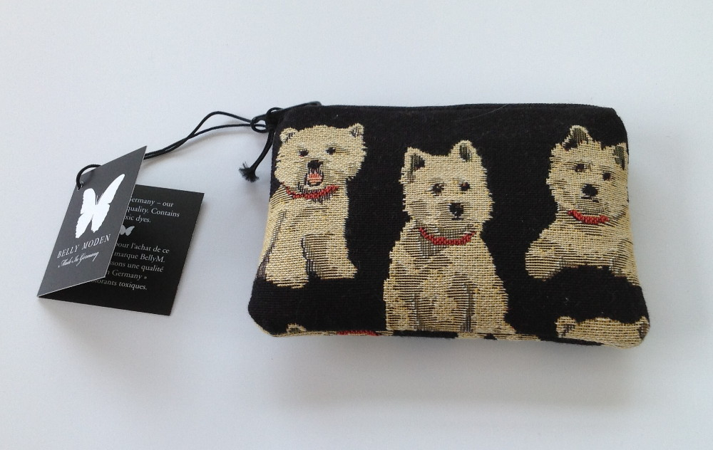 Belly Moden Westie Design Zipped Purse