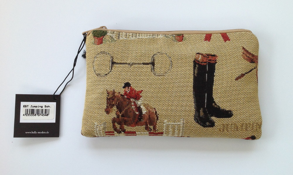 Belly Moden Jumping Design Zipped Cosmetic Purse