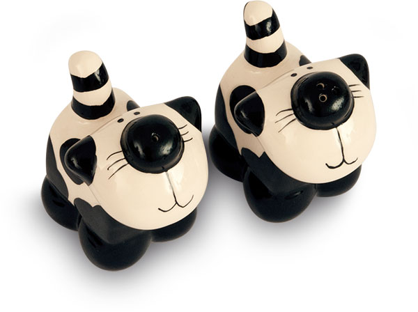2Kewt Ceramic Salt and Pepper Shaker Set of 2