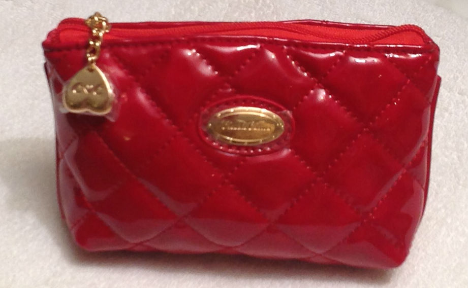 Claudia Canova Small Red Squared Cosmetic Purse