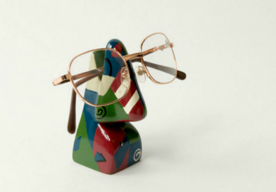 Abstract Nose Eye Glass Holder 7