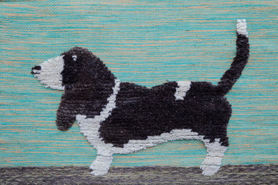 Beagle Hand-made Jute Tapestry Wall Hanging