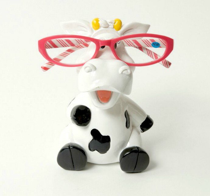 Piggy Bank Cow Eye Glass Holder