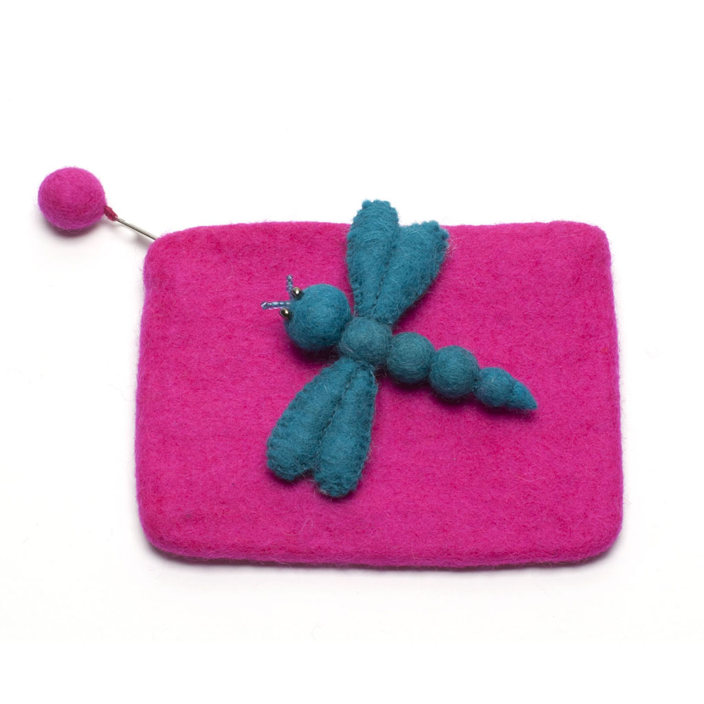 Dragonfly Girls Purse - Pink