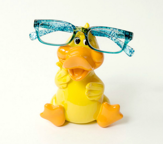Piggy Bank Duck Eye Glass Holder