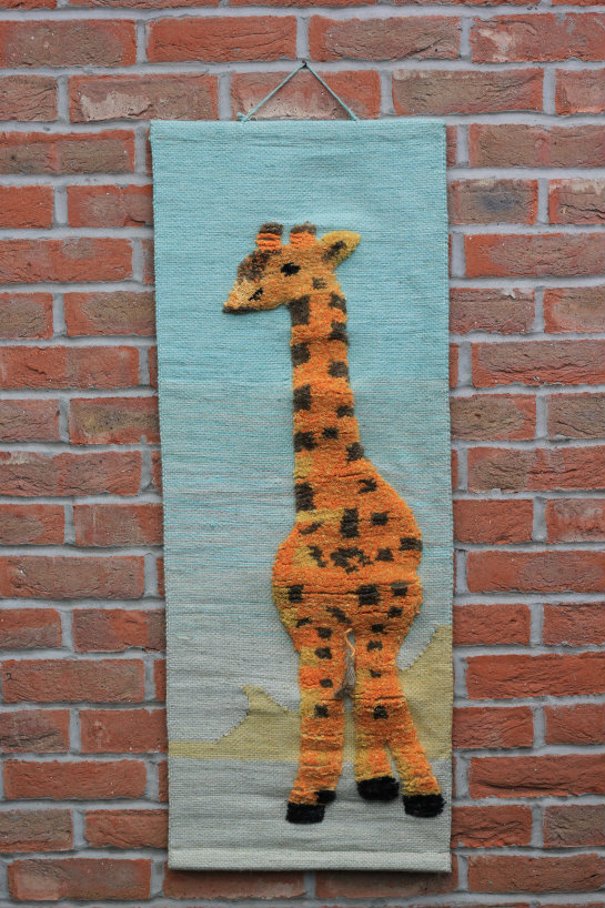 Giraffe Hand-made Jute Tapestry Wall Hanging