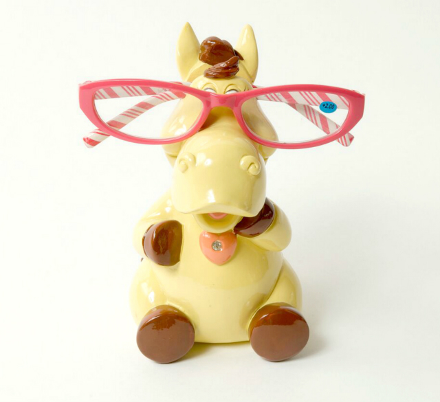 Piggy Bank Horse Eye Glass Holder