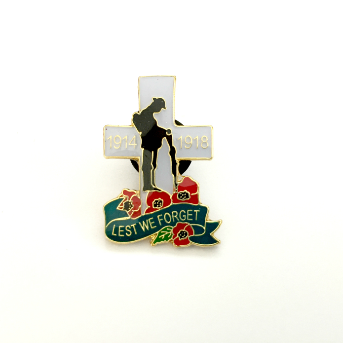 Poppy Lapel Pin Badges