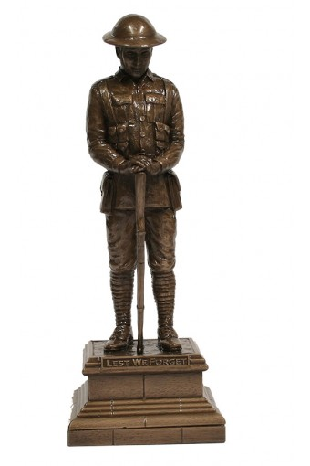 Lest We Forget Unknown Soldier Bronze Figure 30cm