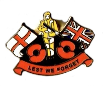 Lest We Forget Khaki Soldier Poppy Enamel Lapel Pin Badge