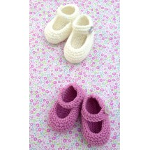 2 x Pairs of Baby Bootees Knitting Kit