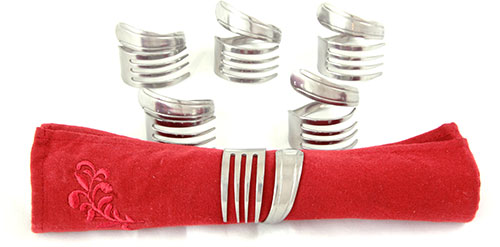 Fork Napkin Rings - Set of 6
