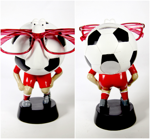 Piggy Bank Soccer Sports Nose Eye Glass Spectacles Holder - Red