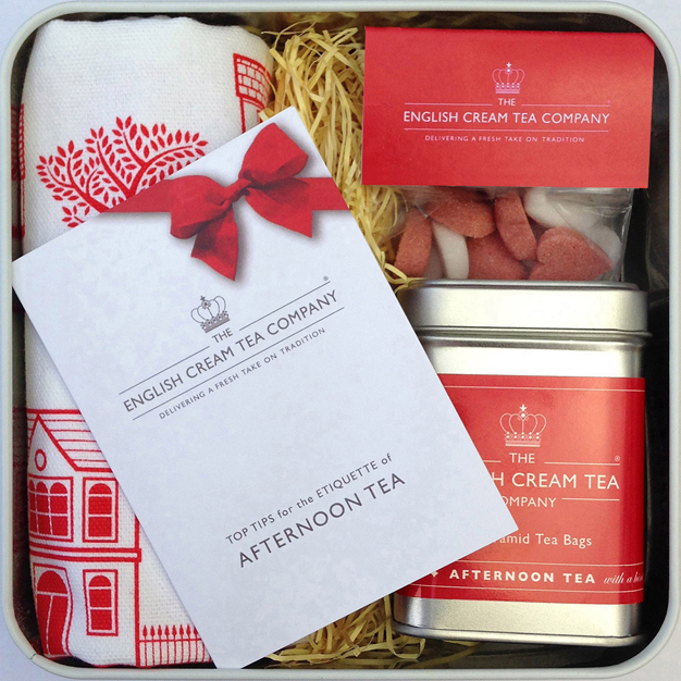 Red Gift Tin with Afternoon Tea