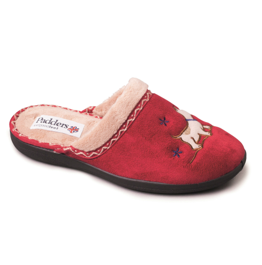 Scotty Womens Slippers - Red