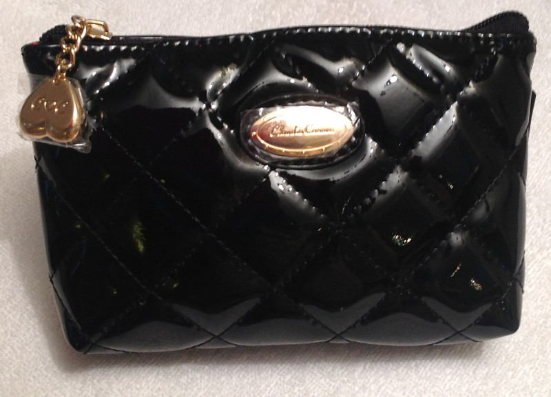 Claudia Canova Small Black Squared Cosmetic Purse