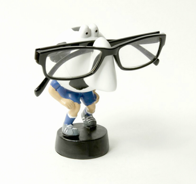 Soccer Sports Nose Eye Glass Spectacles Holder - Blue