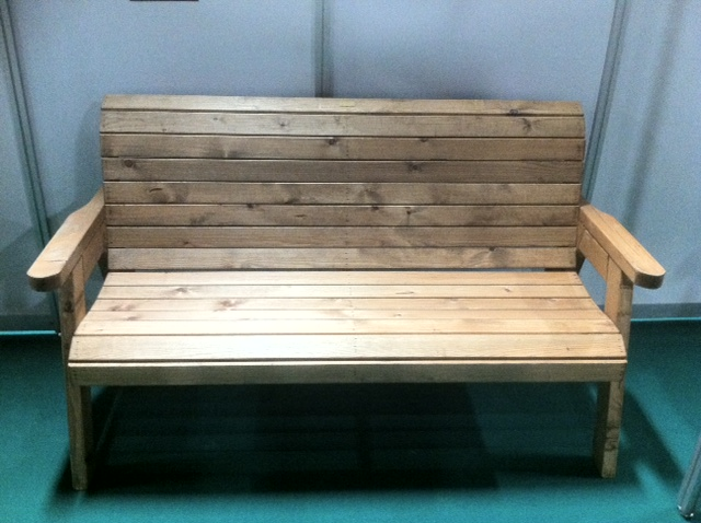 Traditional Wooden Three Seater Bench