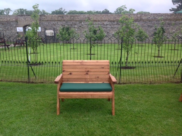 Traditional Wooden Two Seater Bench