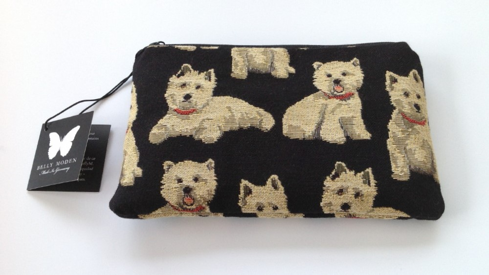 Belly Moden Westie Design Zipped Cosmetic Purse