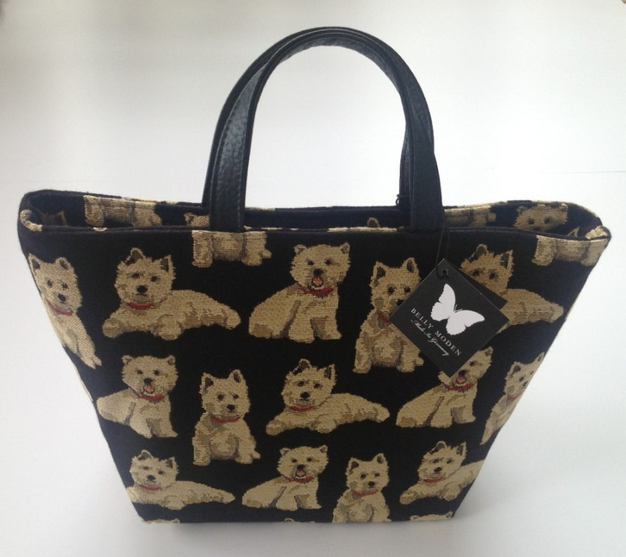 Belly Moden Westie Design Hand Bag