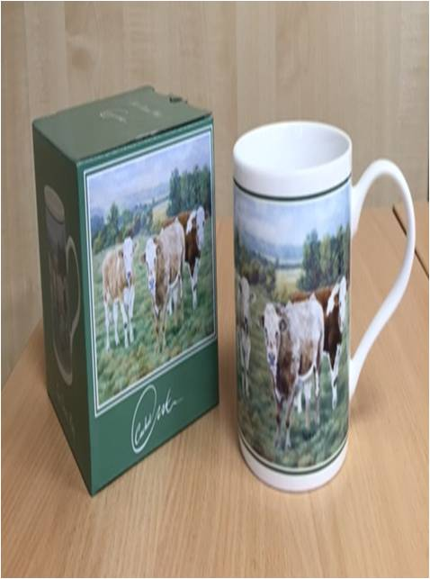 Cattle Fine China Mug