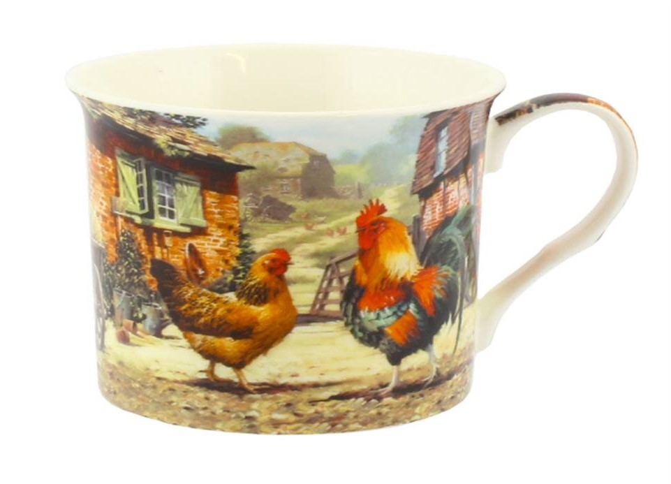 Cockerel and Hen Windsor Mug