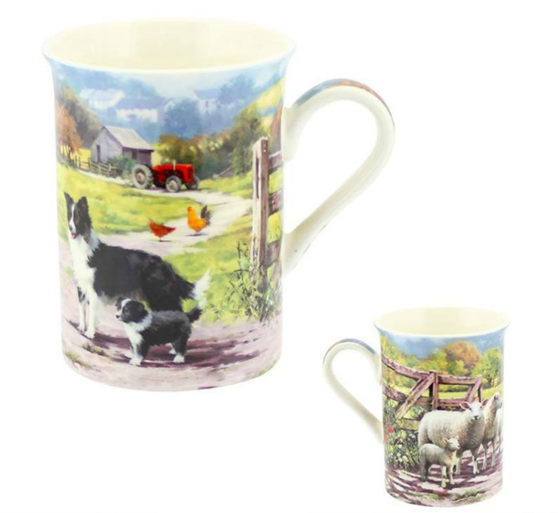 Collie Sheepdog and Sheep Mug