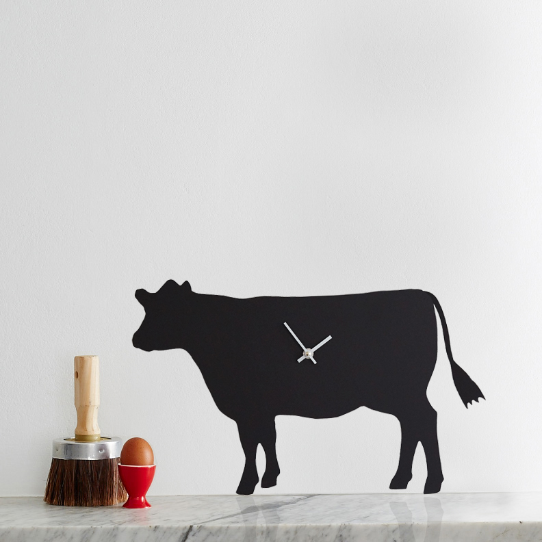 Cow Battery Operated Wall Clock