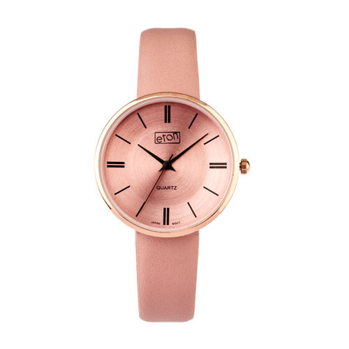 Eton Wrist Watch with Blush PU Strap and Matching Dial