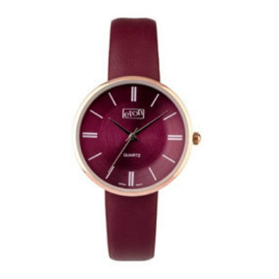 Eton Wrist Watch with Claret PU Strap and Matching Dial