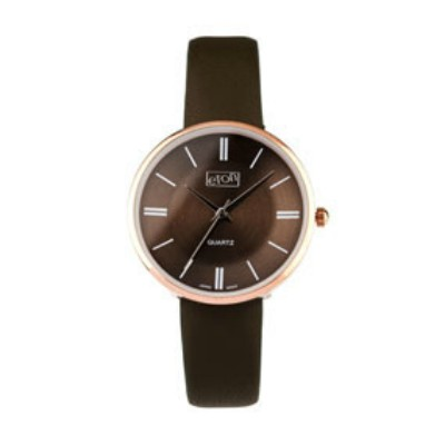 Eton Wrist Watch with Grey PU Strap and Matching Dial