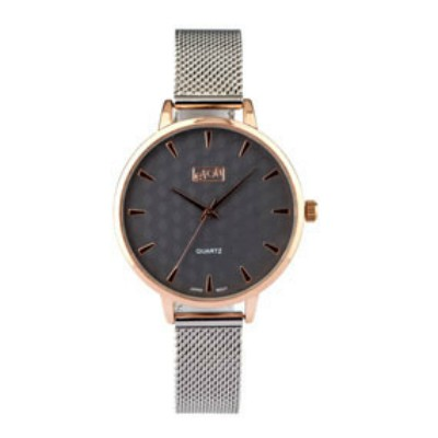Eton Ladies Grey PU Slim Strap with Matching Dial Wrist Watch
