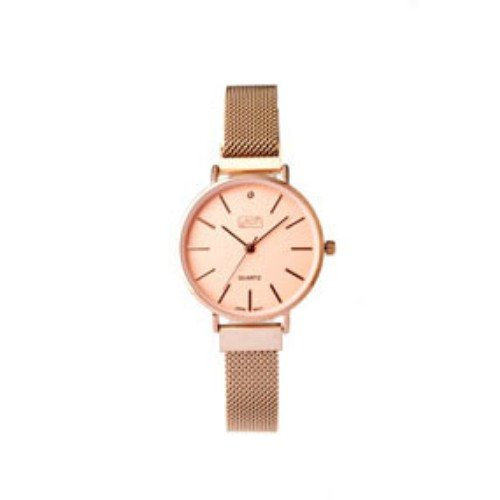 Eton Ladies Mesh Bracelet Rose Gold Finish Wrist Watch