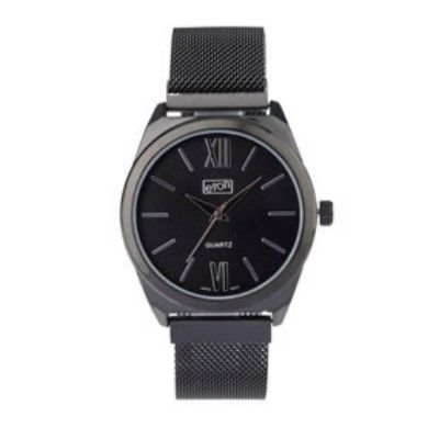 Eton Mesh Bracelet Black Finish Wrist Watch