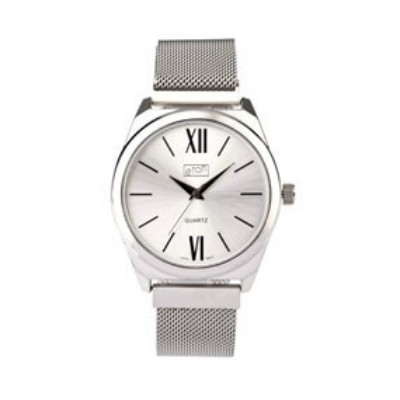 Eton Mesh Bracelet Chrome Finish Wrist Watch