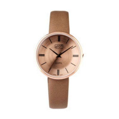 Eton Wrist Watch with Taupe PU Strap and Matching Dial