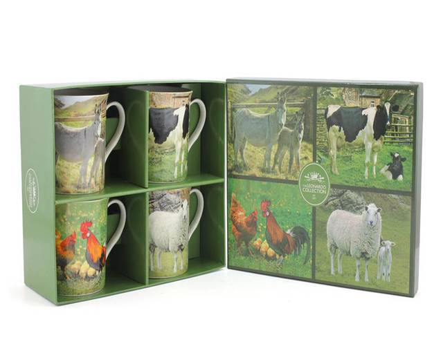 Farm Animal Mugs - Set of 4