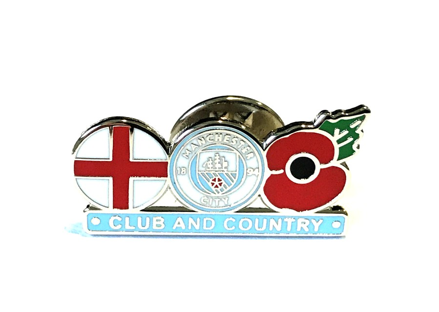 Manchester City Club and Country Poppy Badge