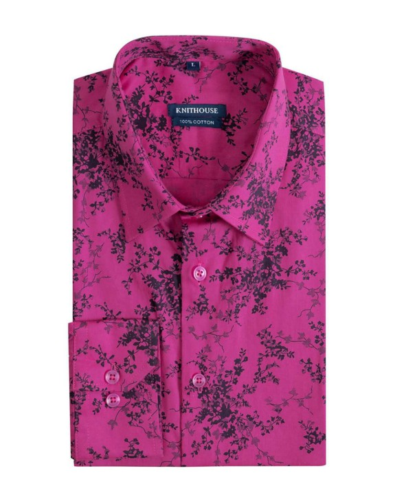 Men's Long Sleeve Slim Fit Shirt - Bush Pink