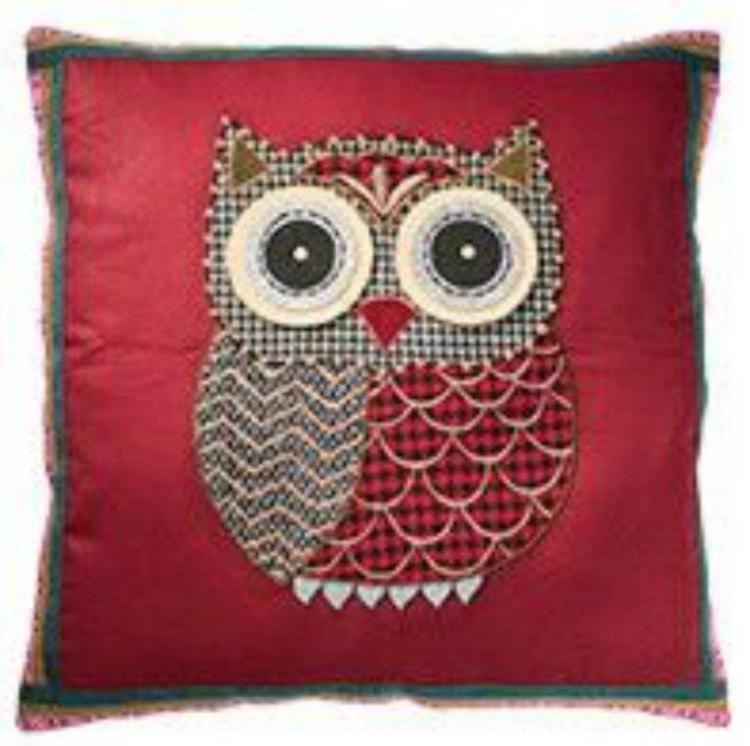 Applique Cushion Cover - Owl
