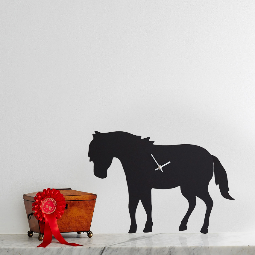 Pony Battery Operated Wall Clock