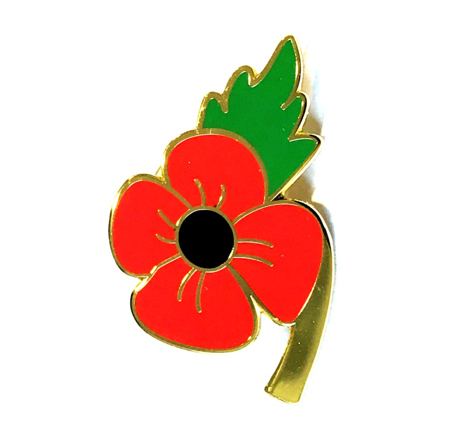 Poppy Enamel Lapel Pin Badge