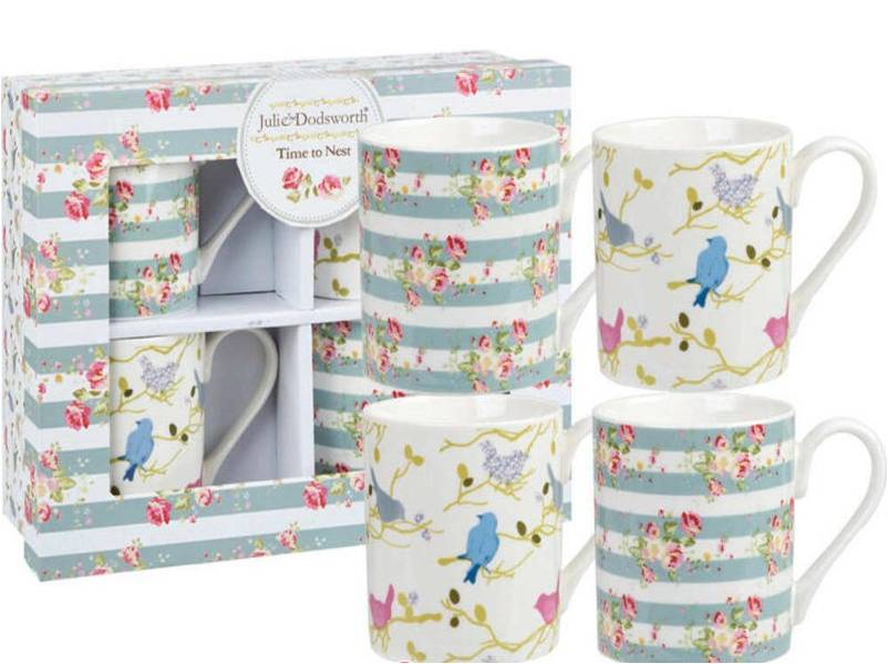 Queens Julie Dodsworth Time To Nest Mugs - Set of 4