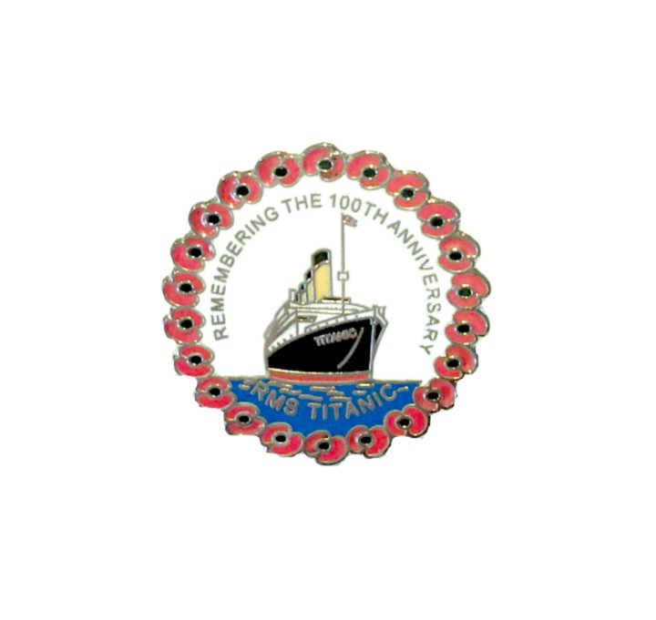 RMS Titanic 100th Anniversary Poppy Pin Badge