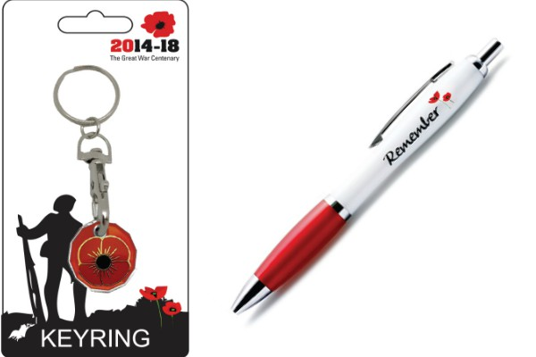 The Great War Centenary £1 Trolley Coin Keyring and Pen Set