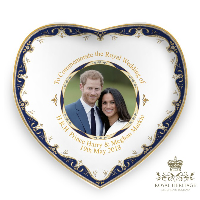 Royal Wedding Prince Harry and Meghan Markle China Heart Dish