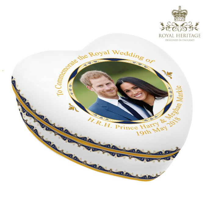 Royal Wedding Prince Harry and Meghan Markle China Trinket Box