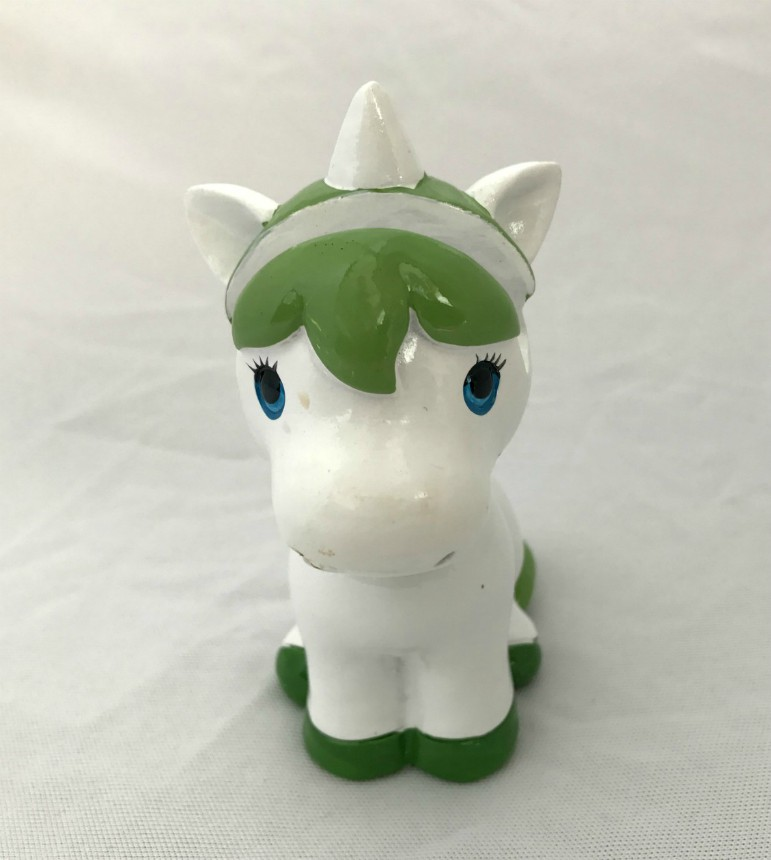 Unicorn Green and White Eye Glass Holder